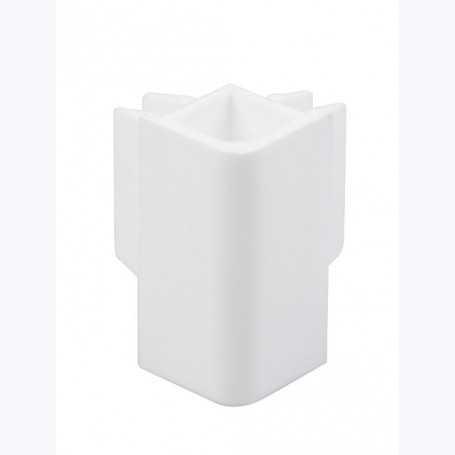 Raccord d'angle pour cimaise Cliprail blanc
