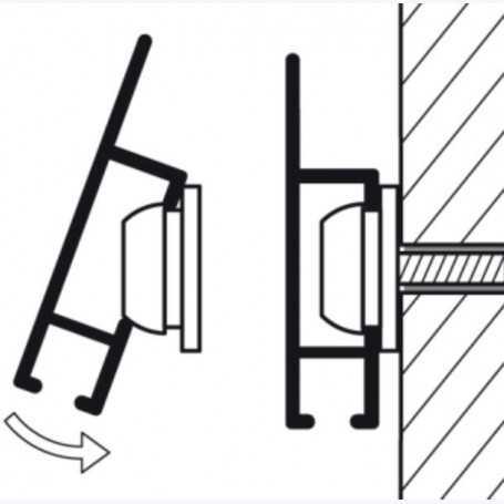 Rail 200cm Cliprail MAX (Fixation incluse)