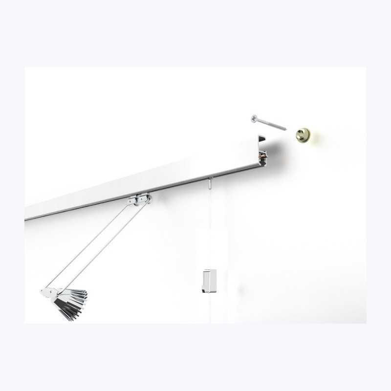Cimaises Multirail Eclairage - KIT Complet 2 Lampes 200cm Blanc