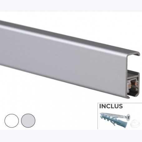 Cimaises Multirail Eclairage -  Rail de 200cm (fixation incl.)