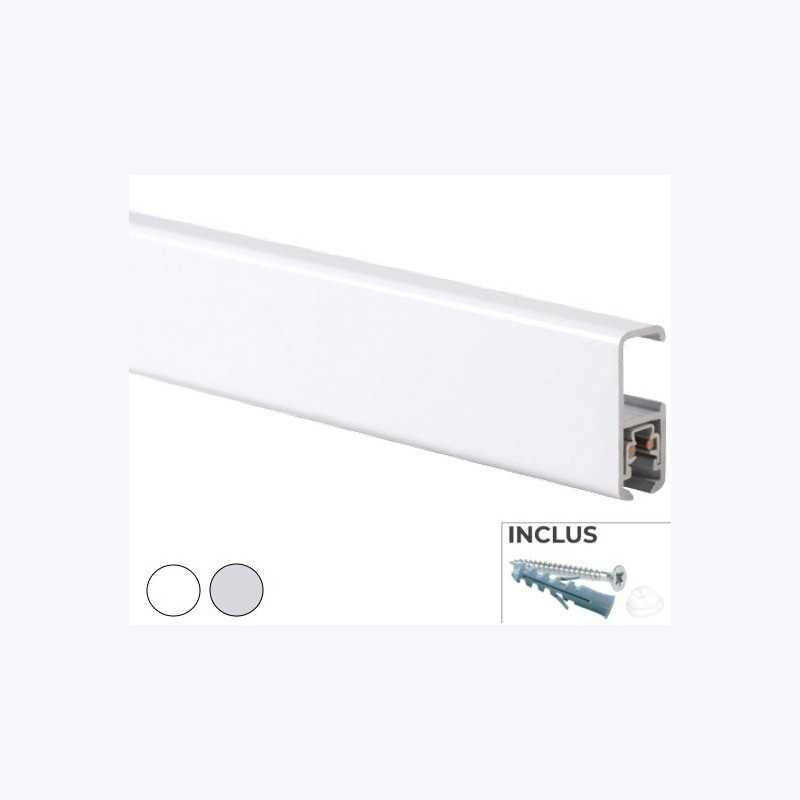 Cimaises Multirail Eclairage - Rail de 200cm (fixation incl.)
