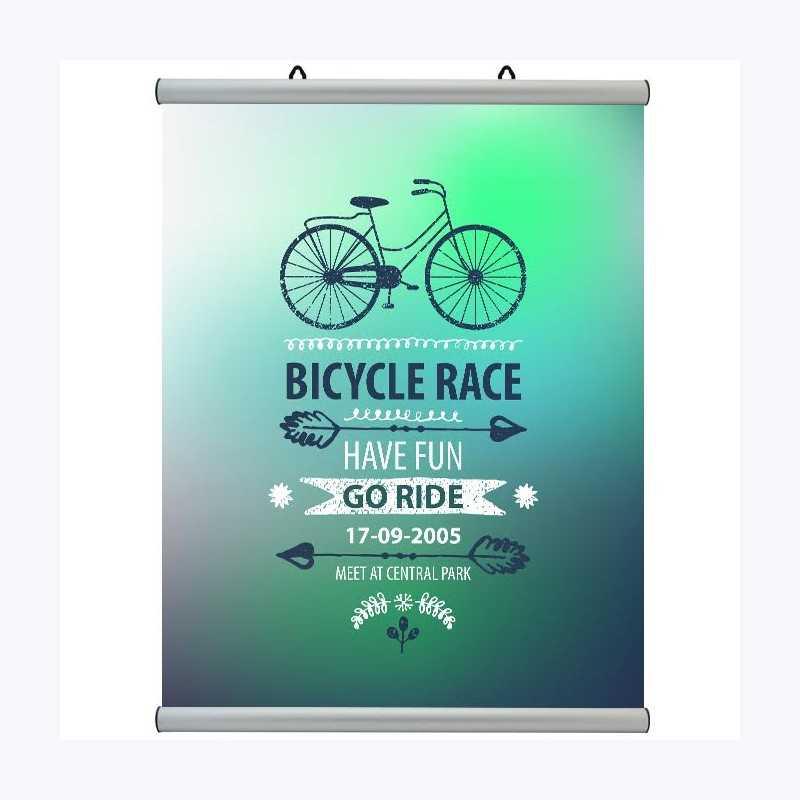Porte affiche clipsable - Argent mat