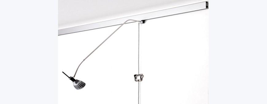 Cimaise électrique à éclairage intégré pour tableaux STAS Multirail lampe